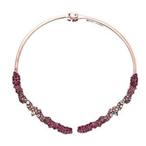 Betsey Johnson Womens Pink Hinge Collar Necklace